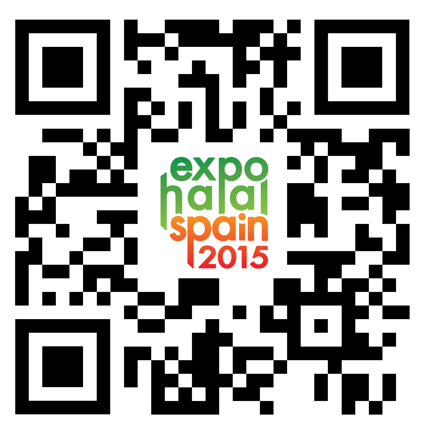 QR Code for ExpoHalal Spain 2016