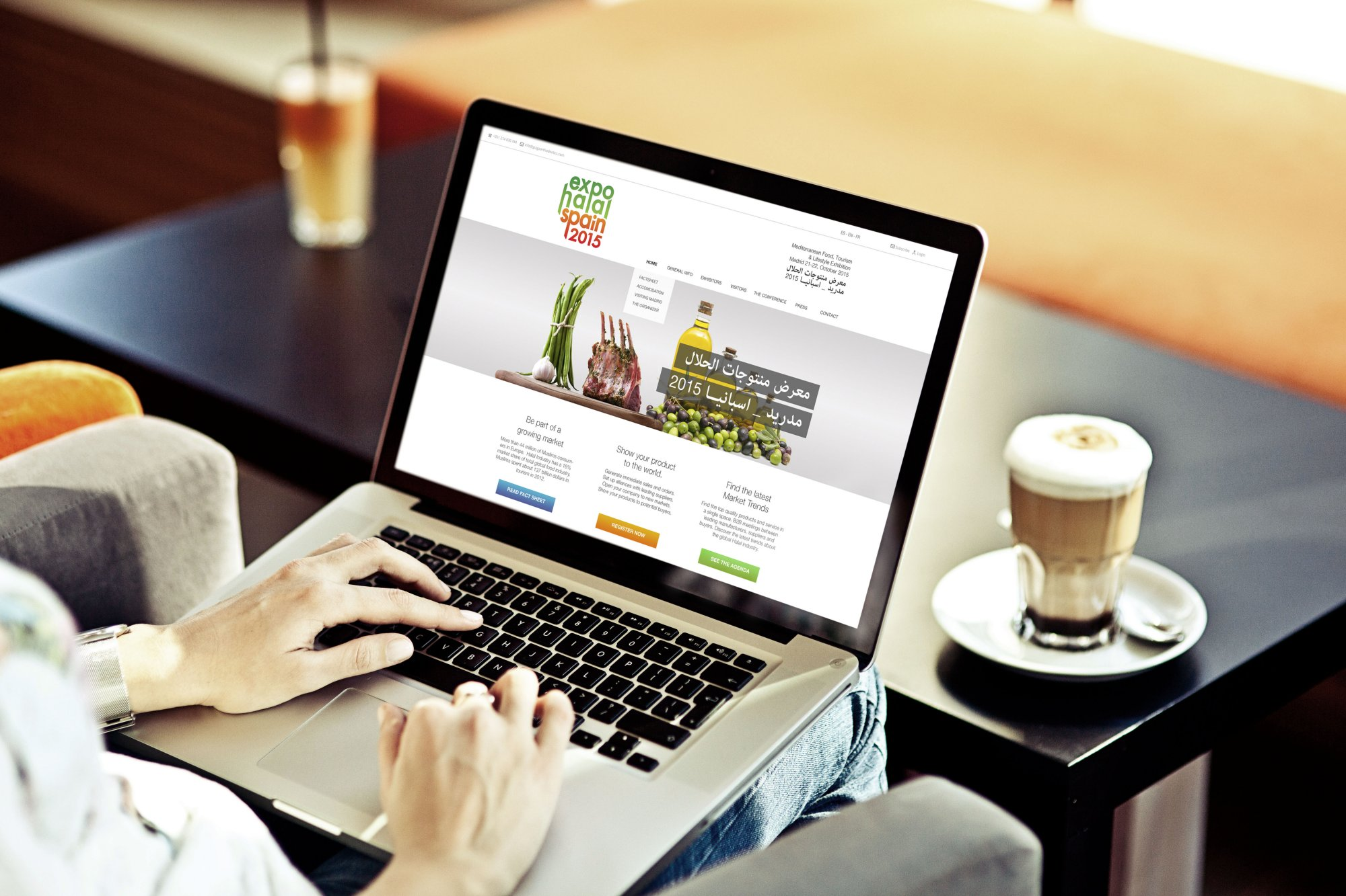 ExpoHalal Spain 2015 - Webdesign Macbook