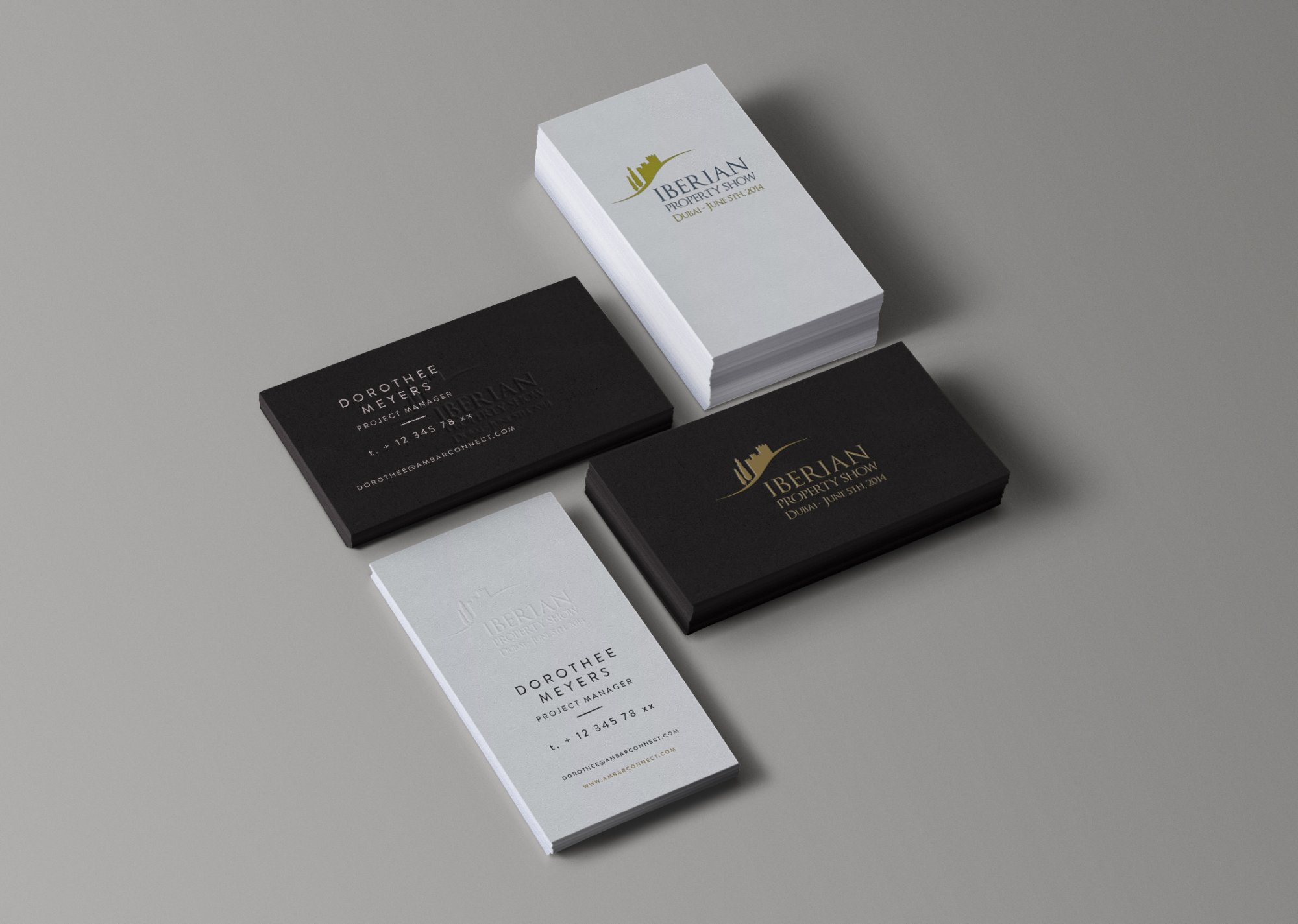 Iberian Property Show - Business Card Design